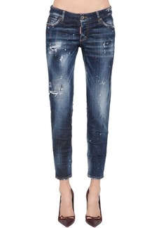 Dsquared2 Jennifer Cropped Denim Pants
