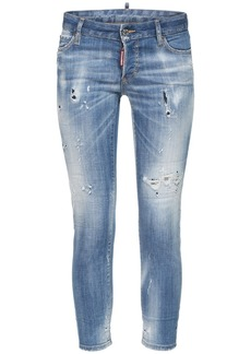 Dsquared2 Jennifer Cropped Denim Skinny Jeans