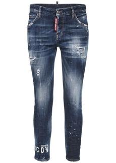 Dsquared2 Jennifer Icon Cotton Denim Skinny Jeans