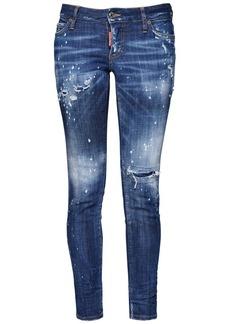 Dsquared2 Jennifer Multiripped Wash Denim Jeans