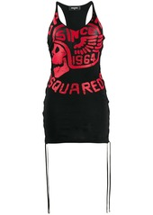 Dsquared2 jersey logo tassel dress