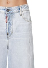 Dsquared2 Jinny Cropped Wide Leg Denim Jeans