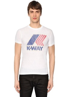 Dsquared2 K-way Printed Cotton Jersey T-shirt