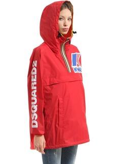 Dsquared2 K-way Reversible Logo Nylon Rain Jacket