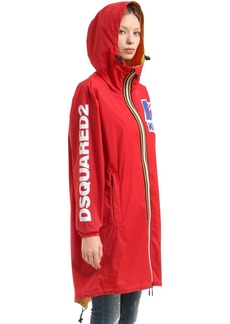 Dsquared2 K-way Reversible Logo Nylon Rain Parka