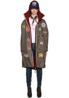Dsquared2 K-way Reversible Nylon & Wool Rain Parka