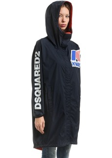Dsquared2 K-way Reversible Nylon Rain Parka
