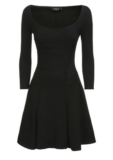 Dsquared2 Knit Stretch Viscose Blend Mini Dress