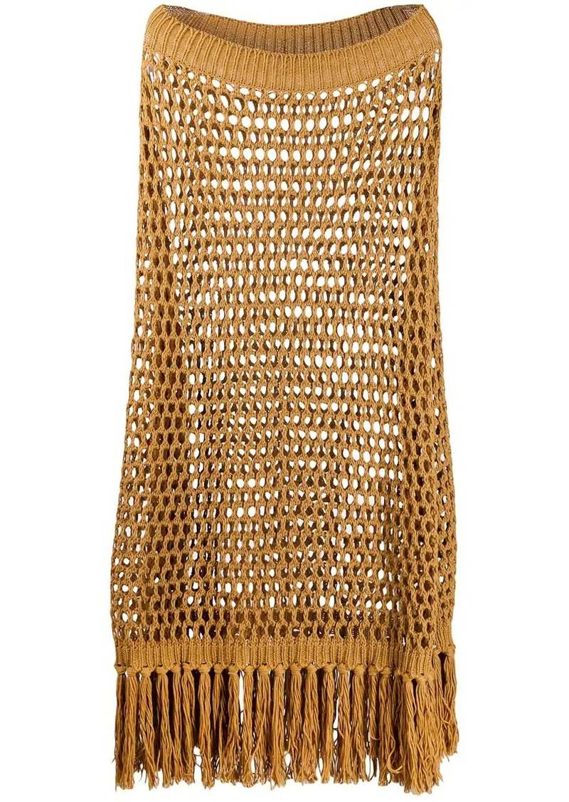 Dsquared2 knitted fringed poncho
