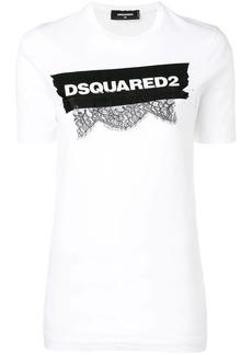Dsquared2 lace appliqué logo T-shirt