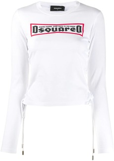 Dsquared2 lace-up T-shirt