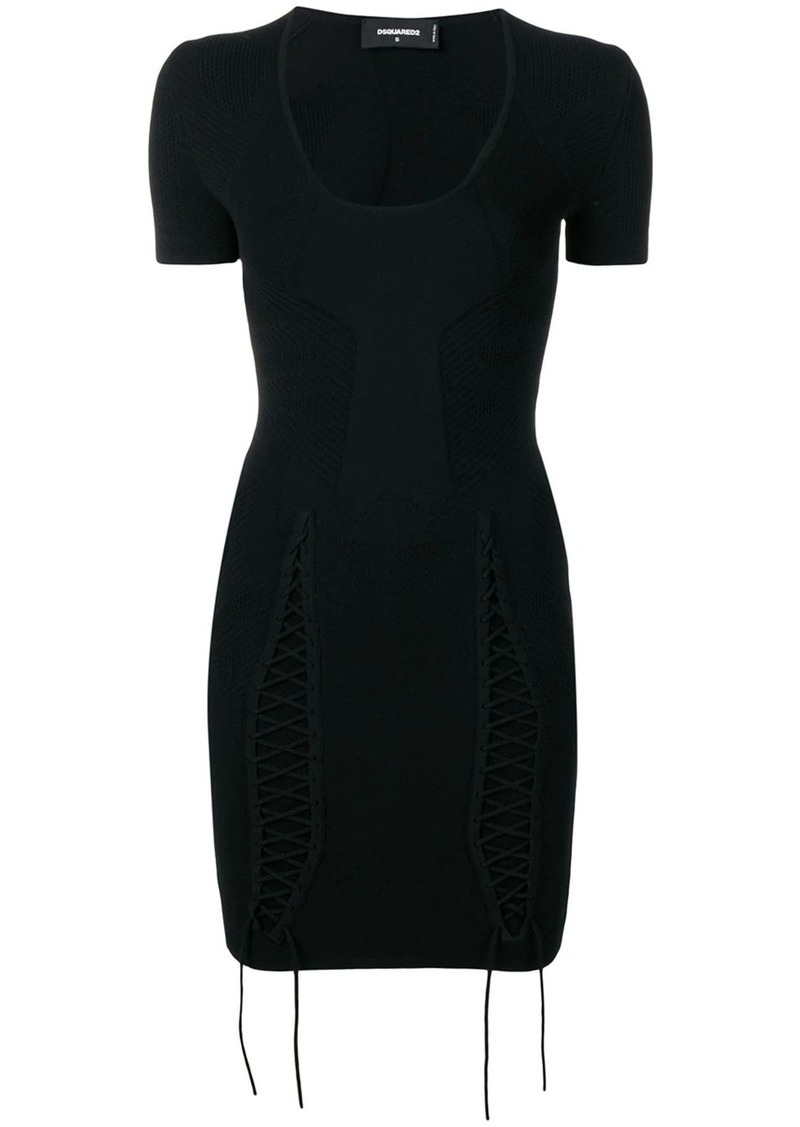 Dsquared2 lace-up tie dress