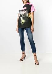 Dsquared2 lamé punk print T-shirt