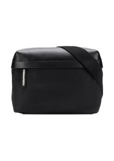 Dsquared2 large logo tab zip belt bag