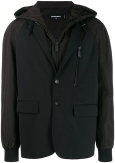 Dsquared2 layered hooded jacket