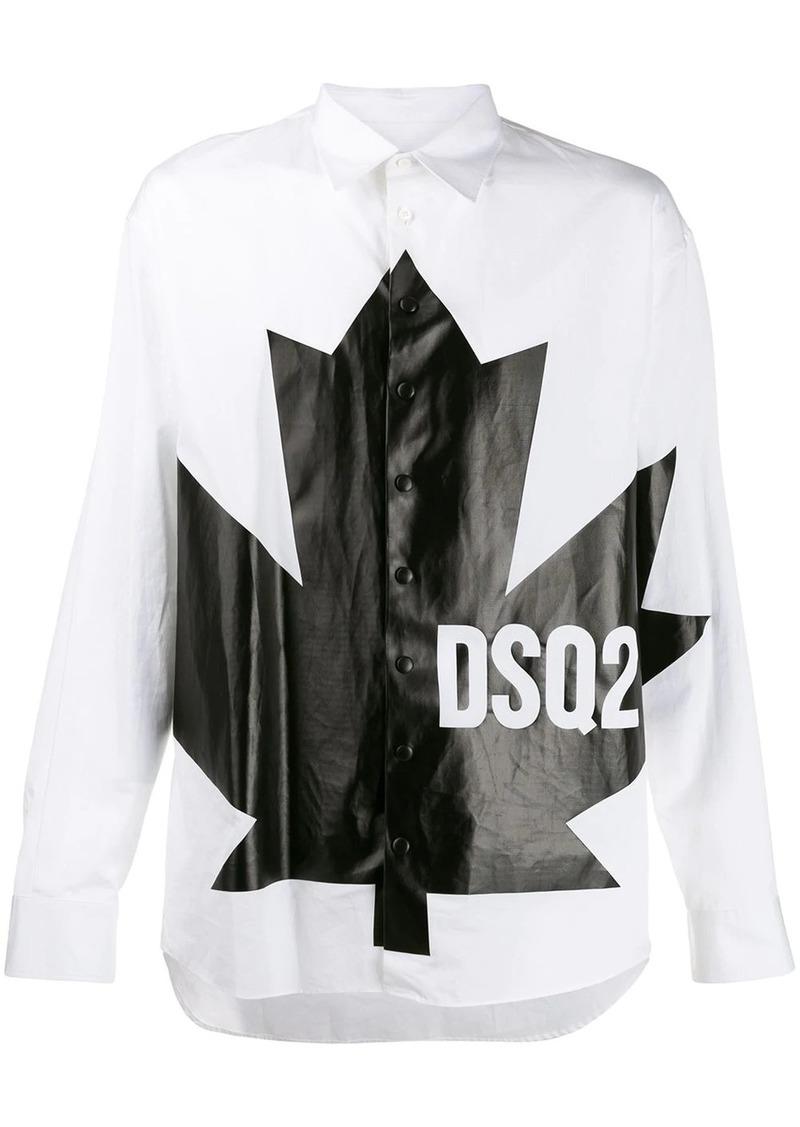 Dsquared2 leaf print shirt