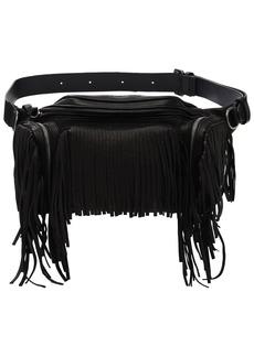 Dsquared2 Leather Belt Bag W/ Fringes