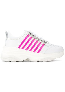 Dsquared2 leather panelled sneakers