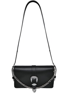 Dsquared2 Leather Shoulder Bag W/ Buckle Detail