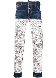 Dsquared2 Letter patch slim-fit jeans
