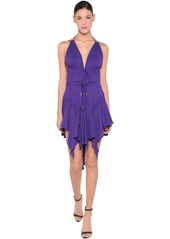 Dsquared2 Light Viscose Crepe Dress