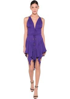 Dsquared2 Light Viscose Crepe Dress