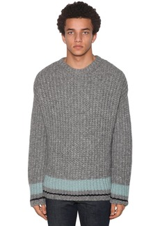 Dsquared2 Light Wool Jacquard Crewneck Sweater