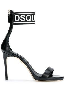 Dsquared2 logo ankle strap sandals