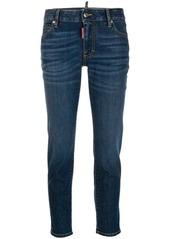 Dsquared2 logo apliqué mid rise jeans
