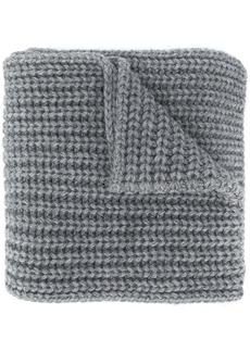 Dsquared2 logo-appliqué purl knit scarf