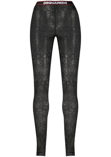 Dsquared2 logo band lace leggings