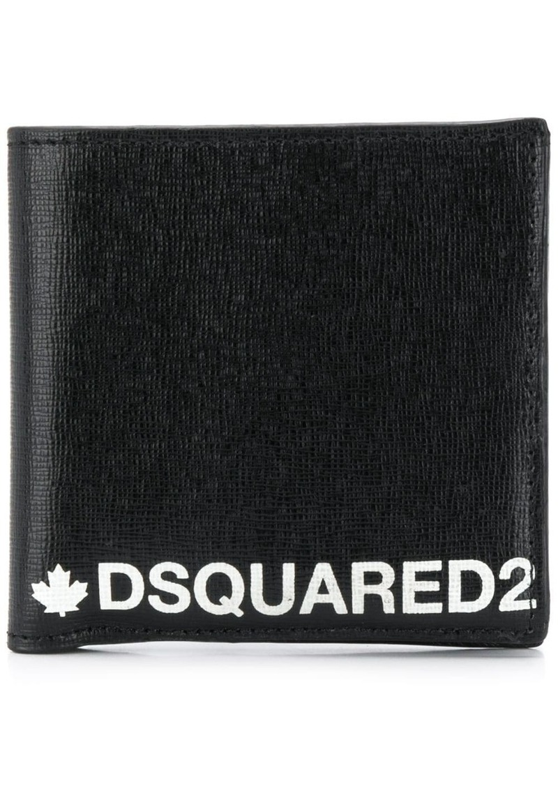 Dsquared2 logo billfold wallet