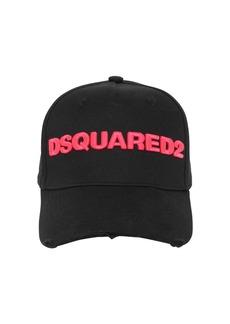Dsquared2 Logo Cotton Gabardine Baseball Cap
