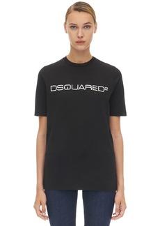 Dsquared2 Logo Cotton Jersey T-shirt