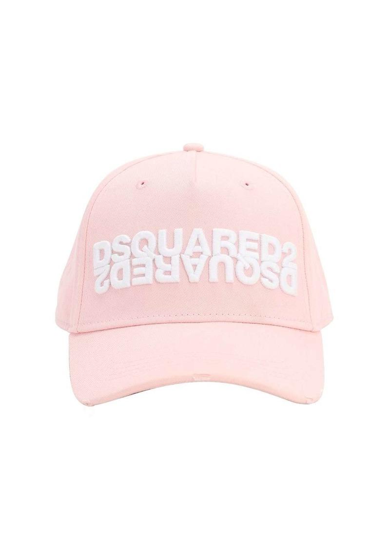 Dsquared2 Logo Embossed Cotton Baseball Hat