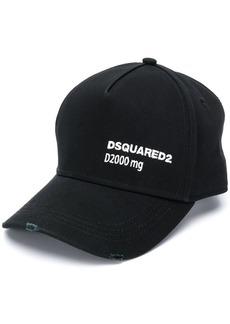 Dsquared2 logo embroidery baseball cap