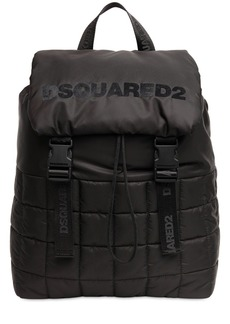 Dsquared2 Logo Flocked Puffy Backpack