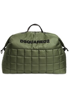 Dsquared2 Logo Flocked Puffy Duffle Bag