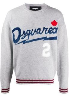 Dsquared2 logo-jacquard crew neck jumper