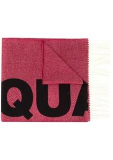 Dsquared2 logo jacquard scarf