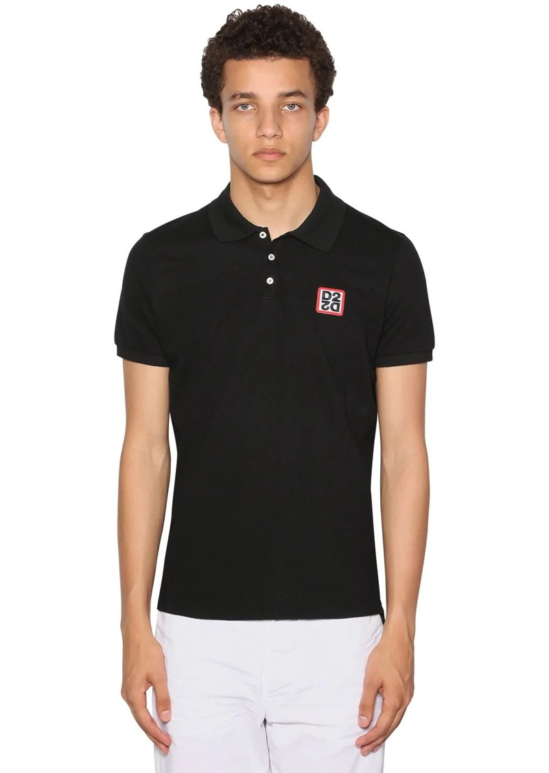 Dsquared2 Logo New Classic Cotton Pique Polo Shirt