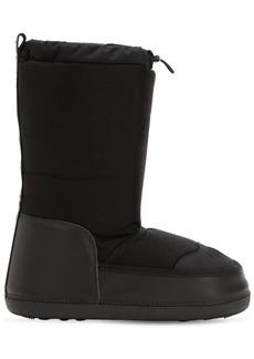 Dsquared2 Logo Nylon & Velour Snow Boots