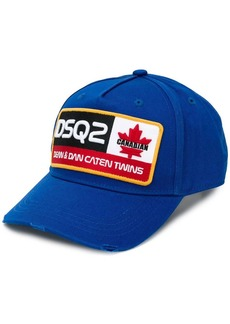 Dsquared2 logo patch baseball cap