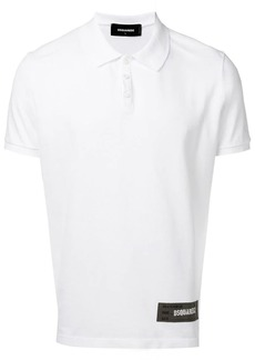 Dsquared2 logo patch polo shirt