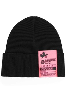 Dsquared2 logo-patch ribbed beanie