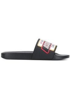Dsquared2 logo patch slides