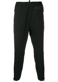 Dsquared2 logo patch tapered trousers