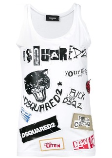 Dsquared2 logo patches tank top
