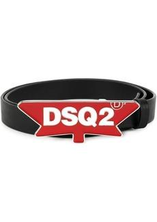 Dsquared2 logo plague belt