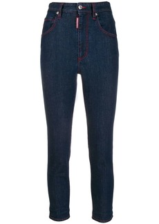 Dsquared2 logo plaque high rise cropped jeans